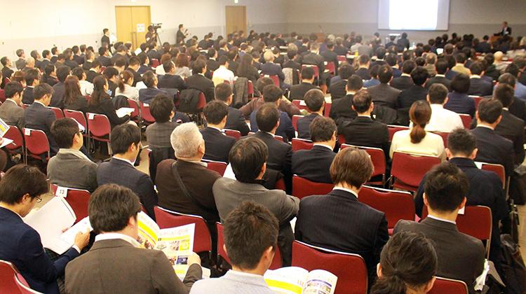 2018年12月12日 グランキューブ大阪(大阪府立国際会議場)で実施した「開催発表・説明会」の様子