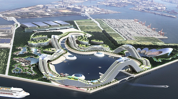 Rendering of Smart IR City by KANSAI Association of Corporate Executives